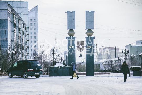 Якутск. Мемориал «Солдат Туймаады»